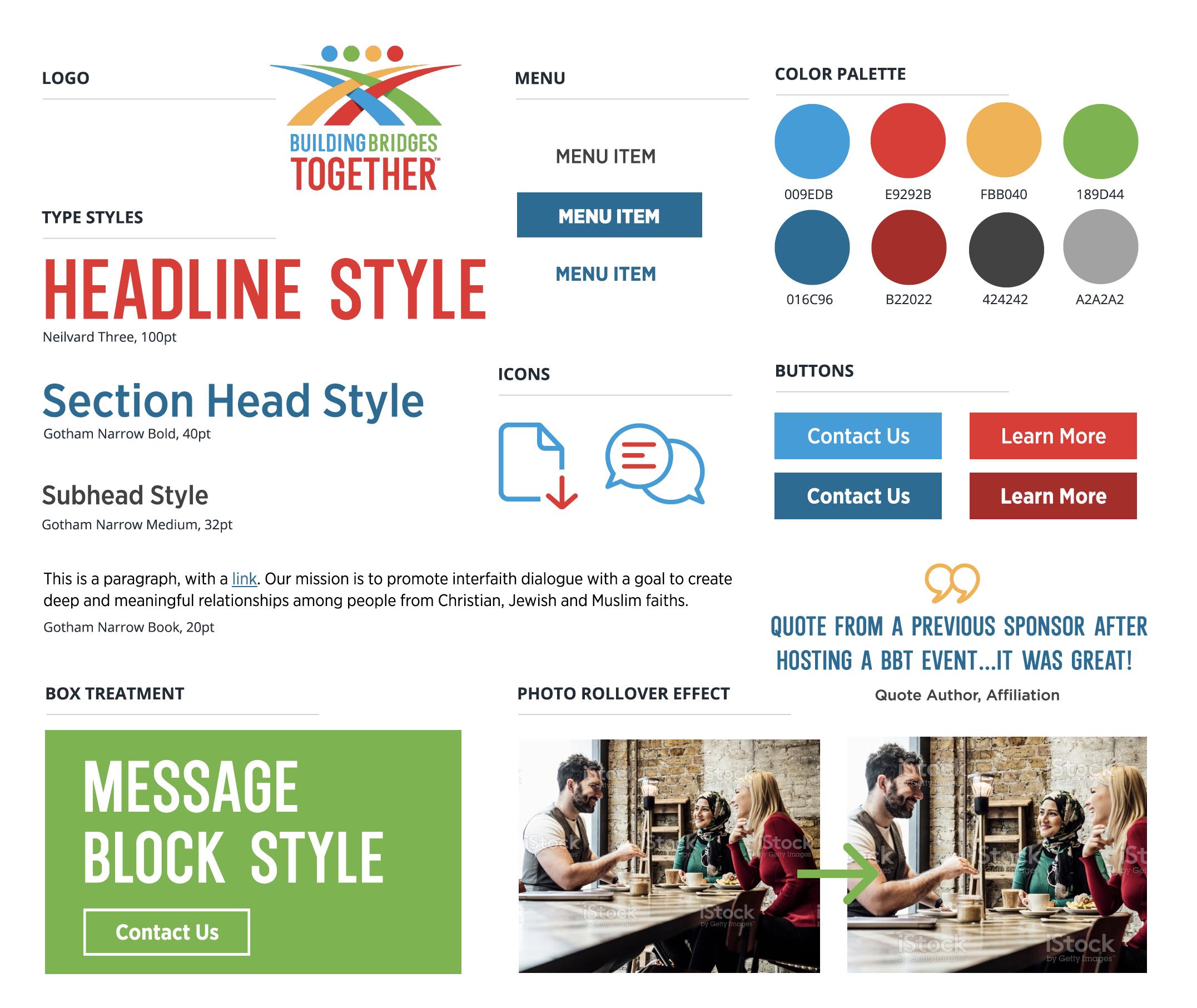 website style tile brand guide