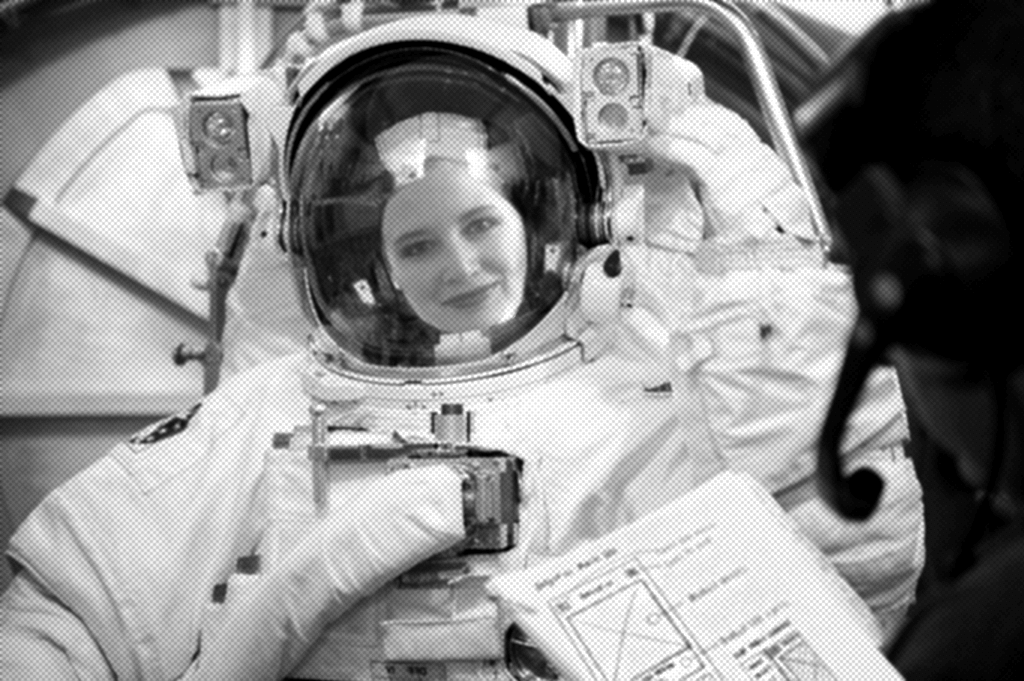 'Berta in astronaut suit