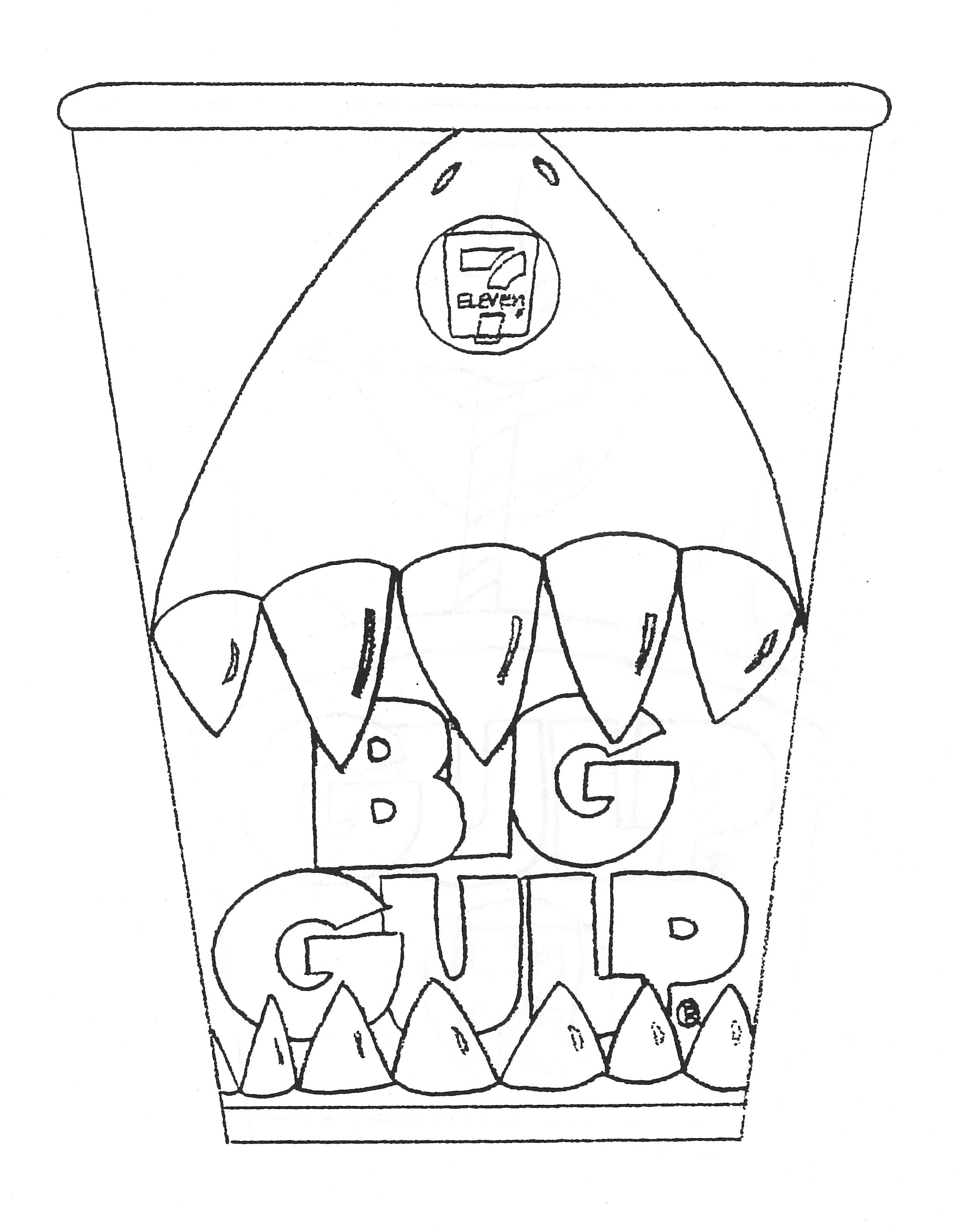 Big Gulp cup sketch