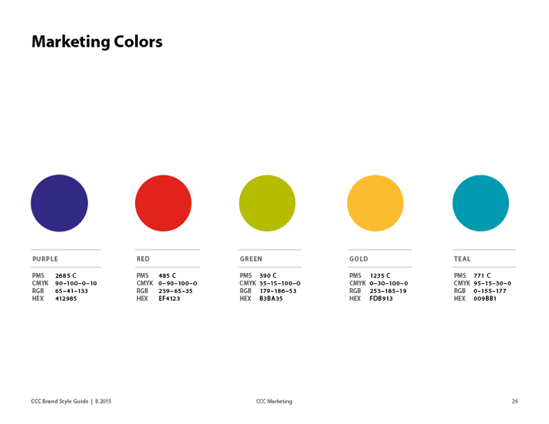 marketing color swatches