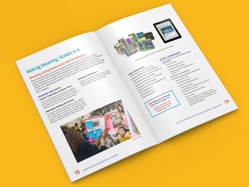 Collaborative Classroom brochure interior spread