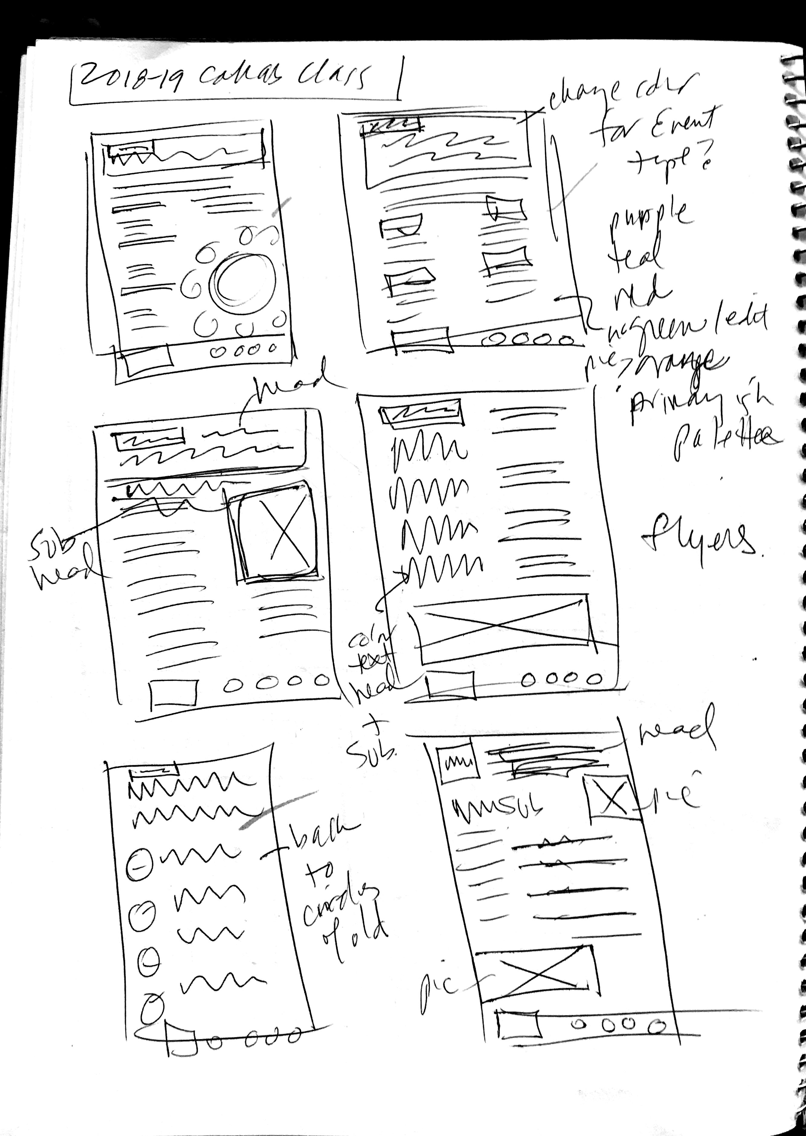 marketing look and feel sketches