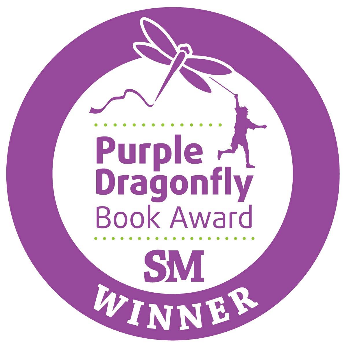 Purple Dragonfly Book Award medallion