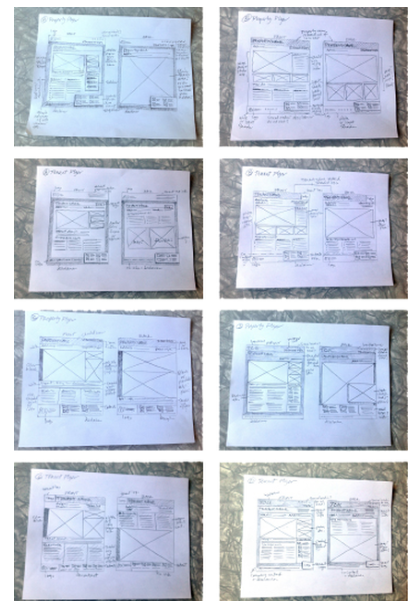 website page sketches