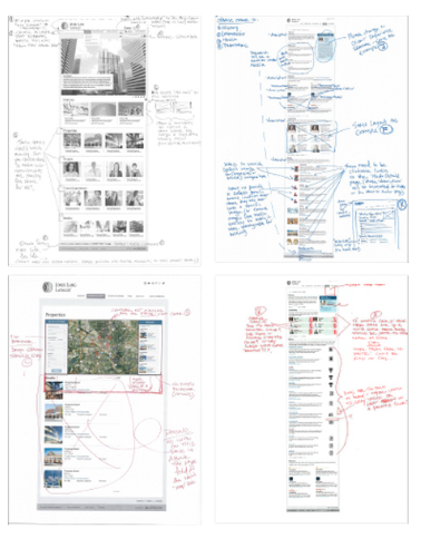 high-fidelity wireframes with feedback from client