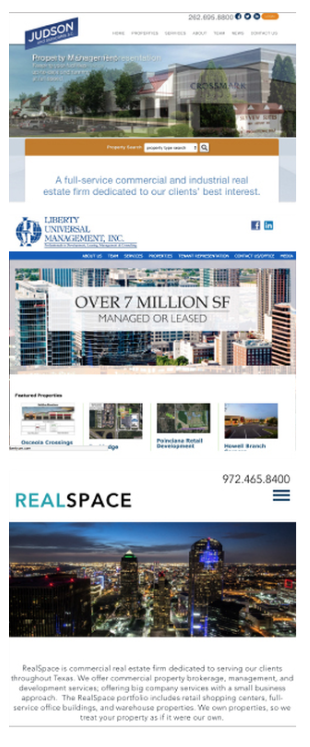 client home page using CRE template
