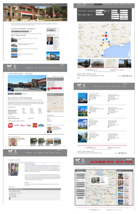client website pages using CRE template