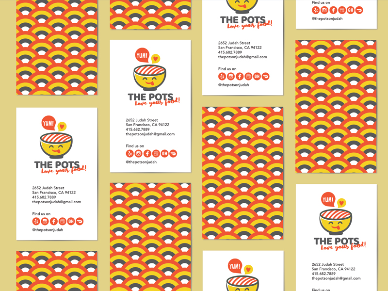 The Pots business card