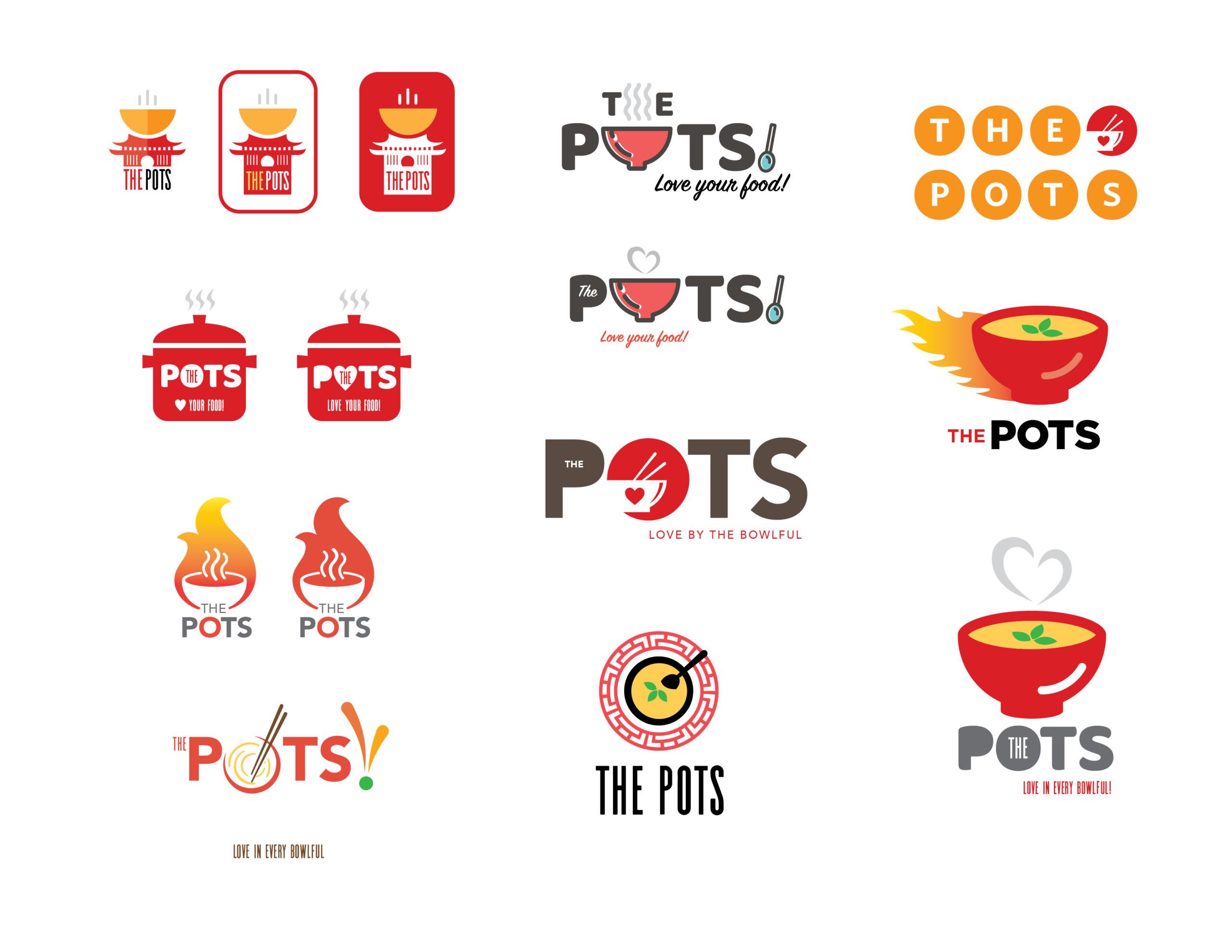 The Pots logo concepts