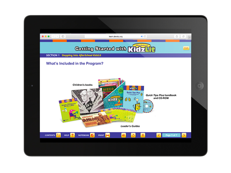 online training course screen