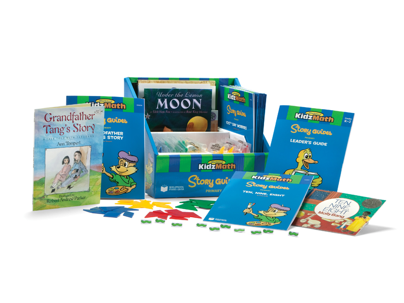 KidzMath story guides package showing components