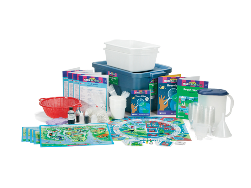fresh water science kit showing components