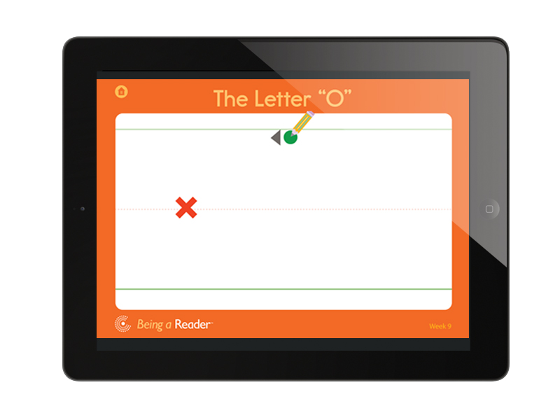 handwriting app screen