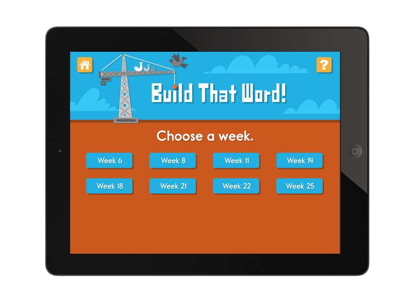 word game app screen