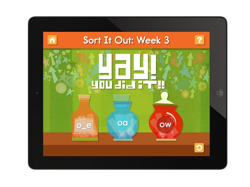 word game app screen