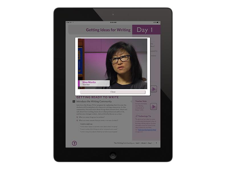 professional development video shown in ePUB