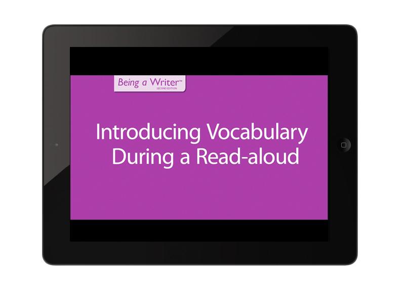 professional development video title card on iPad