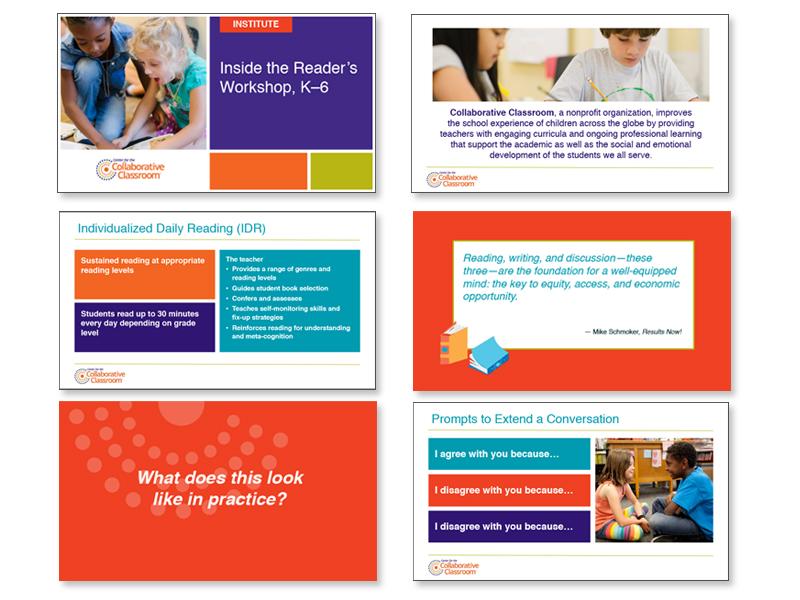 branded presentation slides