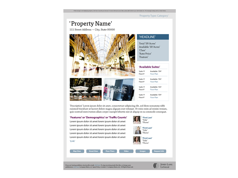 website template property page