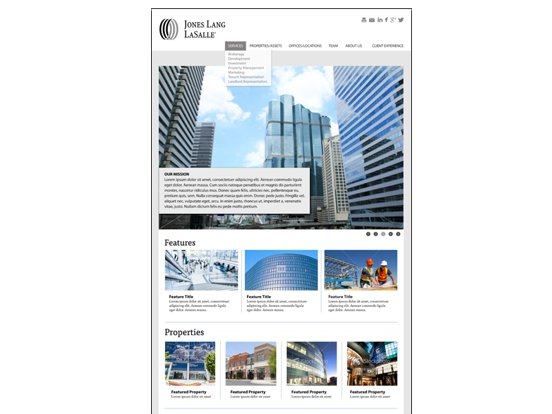 website template home page
