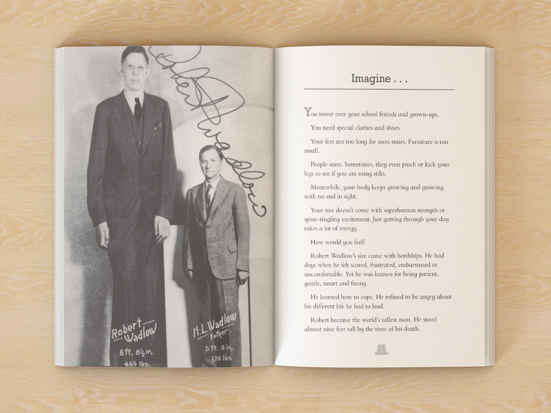 Robert Wadlow biography book pages