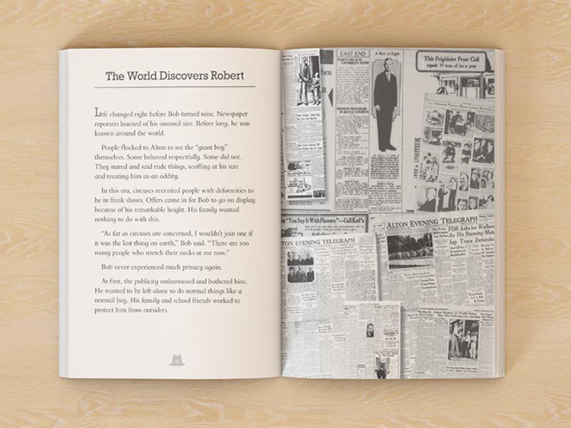 Robert Wadlow biography book pages