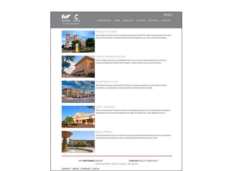 website search results page