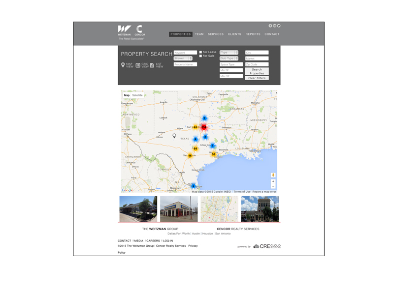 website map page