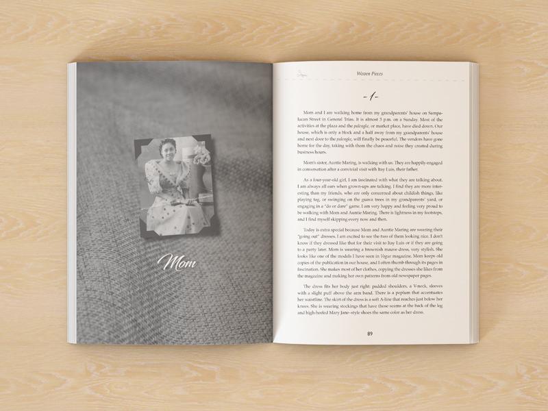 Woven Pieces memoir interior spread